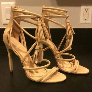 New strappy tassel ankle heels